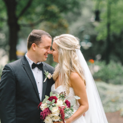 Charlotte Wedding maroon bridal bouquet with white roses