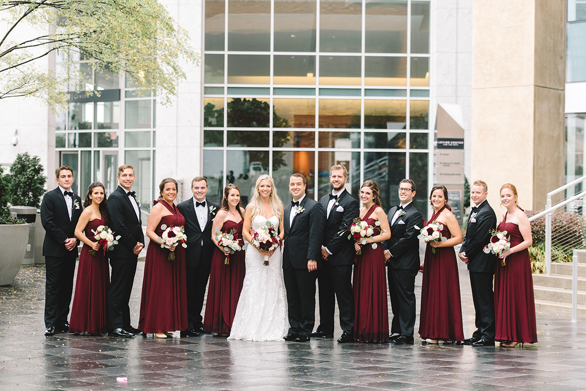 Bridal Party photos Uptown Charlotte