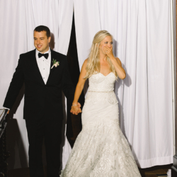 Charlotte Bride and Groom reception entrance at the Club at Longview coordination by Magnificent Moments Weddings