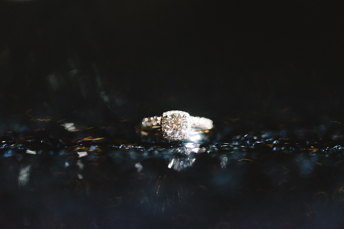 Charlotte wedding bridal ring detail shot by Riette Farthing Photography
