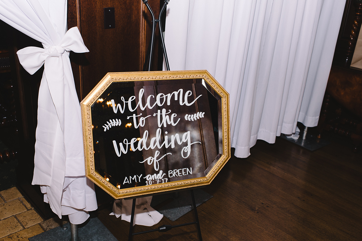 Wedding welcome sign The Club at Longview