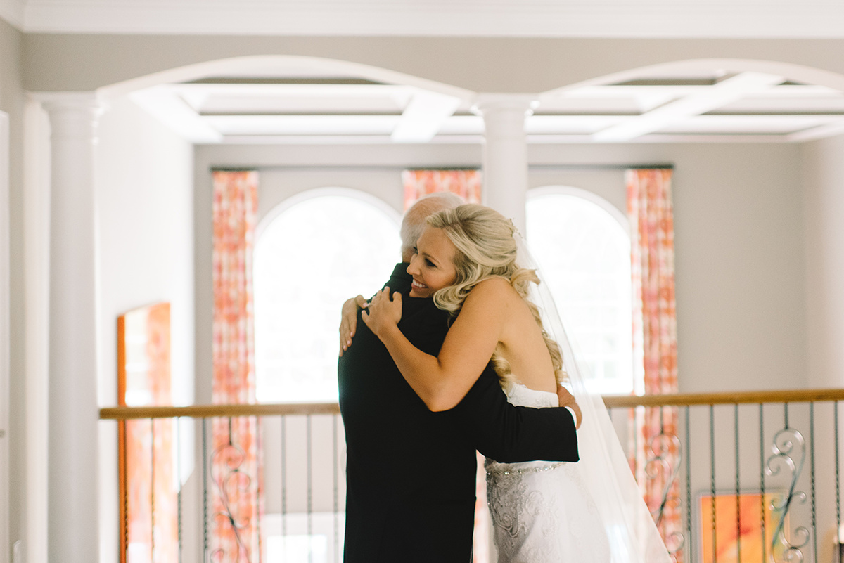 Father Daughter first look photography by Riette Farthing Photography and coordination by Magnificent Moments Weddings