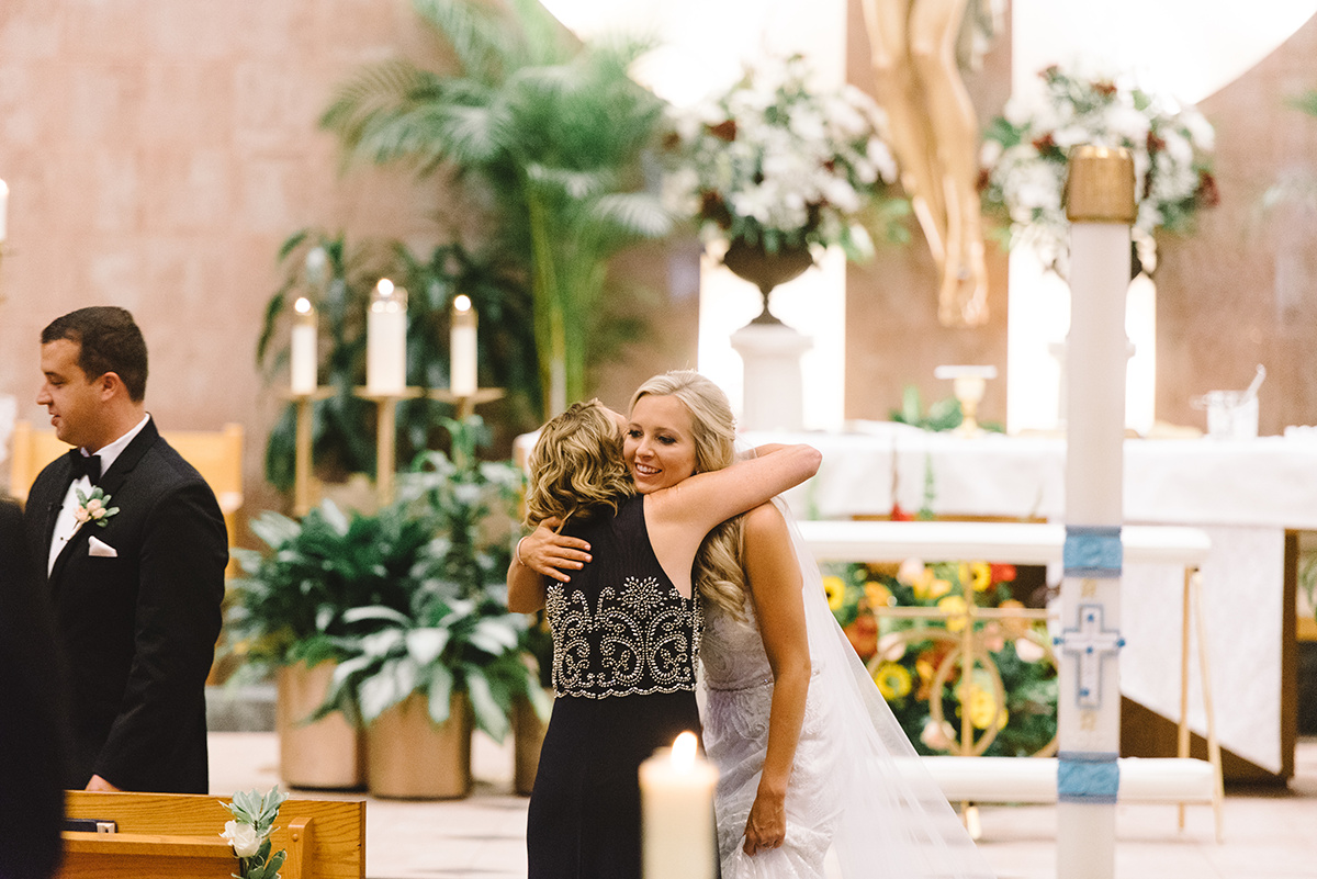 Charlotte Wedding Ceremony at St Matthews Catholic Church photography by Riett Farthing Photography coordination by Magnificent Moments Weddings