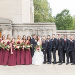 Bridal party photo bridesmaids and groomsmen show for wedding held in Charlotte North Carolina coordination provided by Magnificent Moments Weddings