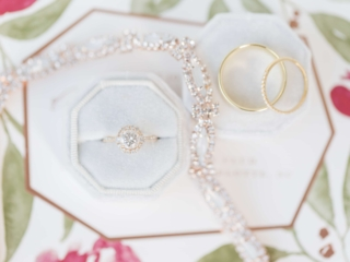 Detail shot of bridal jewelry for wedding at Carmel Country Club captured by Ryan and Alyssa Photography