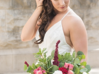 Charlotte bride with hair and makeup designed by Julie Jackson