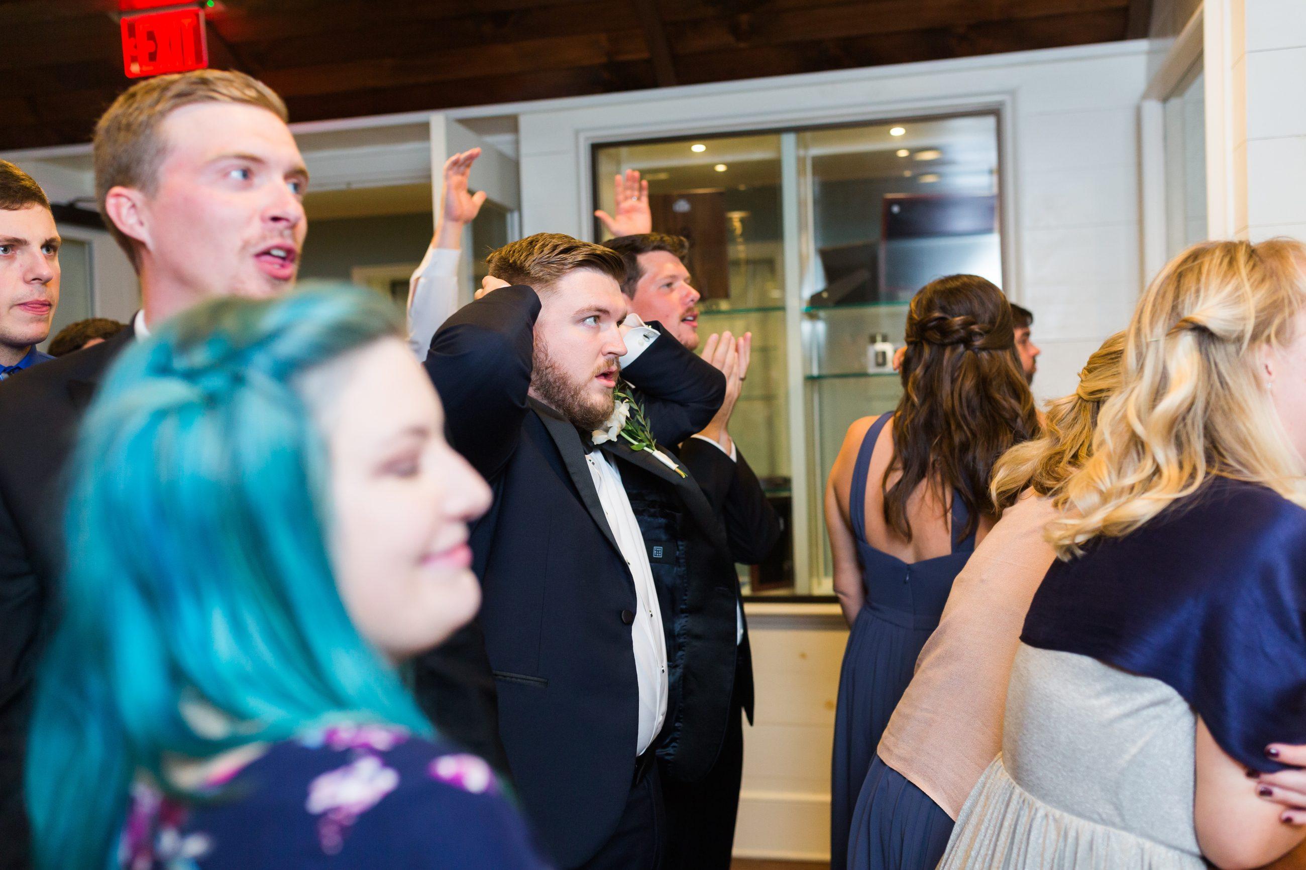 Wedding reception at Peninsula Yacht Club