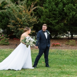 Bride and groom portrait outdoor wedding Charlotte coordinated by Magnificent Moments Weddings
