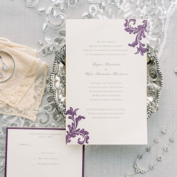 Ocean and Coral created a stunning invitation suite for a spring wedding at Foundation for the Carolinas