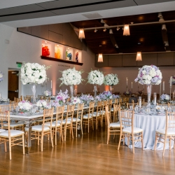 Sunshower Photography captures the room for a spring wedding reception at Foundation for the Carolinas
