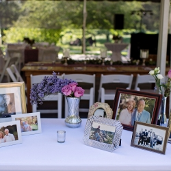 A memorial table allowed the memory of lost family to be present on the wedding day of an amazing couple at The Ivy Place