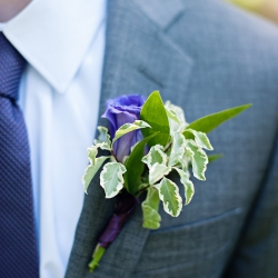 Custom boutonnieres show off garden hues and greenery perfect for a spring wedding in Lancaster, South Carolina