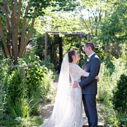 The gardens of the Ivy Place in Lancaster, South Carolina served as the perfect backdrop for a sweet garden wedding full of greens and florals perfect for this amazing couple