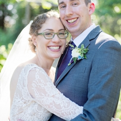 Bride and groom are all smiles for The Beautiful Mess Photography during their garden wedding at The Ivy Place coordinated by Magnificent Moments Weddings