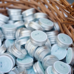 Sweet mints served as the perfect favor for guest attending a summer garden wedding at The Ivy Place
