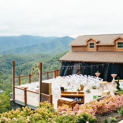 The Magnolia Venue serves as a stunning ceremony space in the Tennessee Mountains captured by Alex Bee Photography