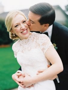 Ally and Bobby capture a smiling bride and groom during their wedding day at Carmel Country Club in Charlotte, North Carolina