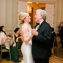 Ally and Bobby photography captures a bride dancing with her father during her winter wedding at Carmel Country Club