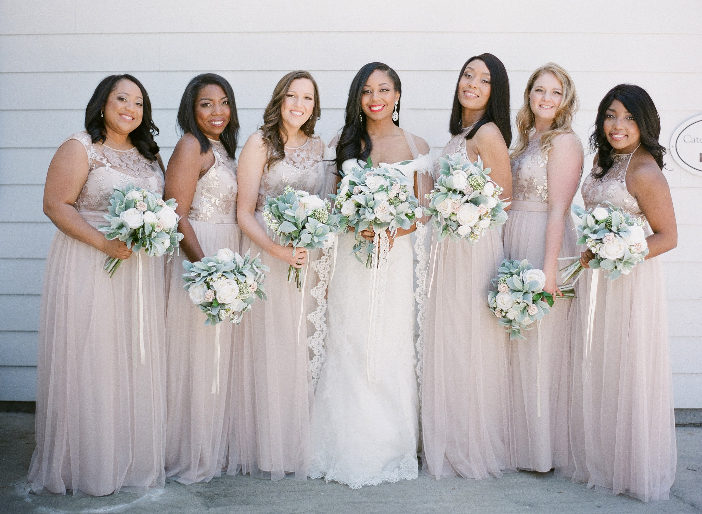 Almond Leaf Studios captured bride and bridesmaids before their wedding ceremony coordinated by Magnificent Moments Weddings