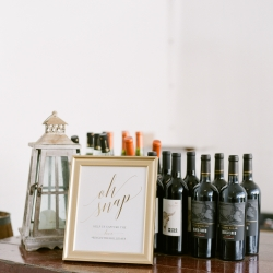 Detail shot of bar at Vesuvius Vineyards wedding captured by Almond Leaf Studios and coordinated by Magnificent Moments Weddings