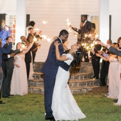 Sparkler grande exit coordinated by Magnificent Moments Weddings at Vesuvius Vineyards