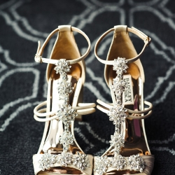 Stunning bridal shoes are the perfect accessory for a summer wedding in Uptown Charlotte coordinated by Magnificent Moments Weddings