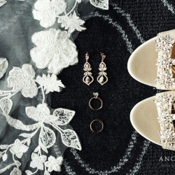 Stunning wedding details of bridal accessories are the perfect subject for Anchor and Veil Photography