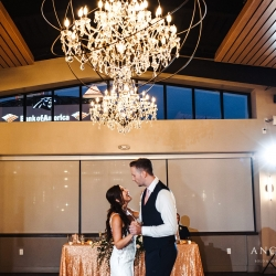 Anchor and Veil Photography captures a sweet moment between a bride and groom during their summer wedding at Terrace at Cedar Hill