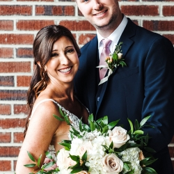 Bride and groom are all smiles for Anchor and Veil Photography as they prepare for their summer wedding at Terrace at Cedar Hill