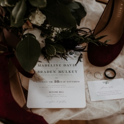 Avonne Photography captures the stunning details of bridal accessories for a fall wedding at Ritchie Hill