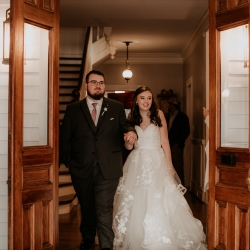 Bride and groom introduced into their wedding reception by Split Second Sound and captured by Avonne Photography