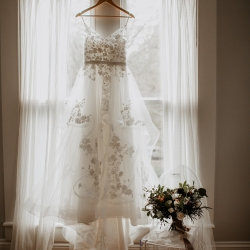 Avonne Photography captures the stunning details of a bridal gown at Ritchie Hill