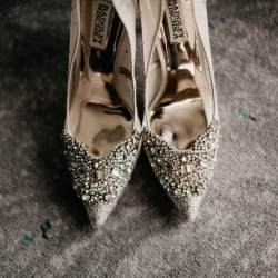 Avonne Photography captures stunning bridal shoes for a spring wedding at The Ritz Carlton
