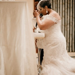 Avonne Photography captures and intimate wedding ceremony moment during a spring wedding at The Ritz Carlton
