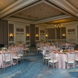 The ballroom at The Ballayntyne Hotel was the perfect backdrop for a spring wedding captured by Georgestreet Photogrpahy