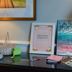 Magnificent Moments Weddings helped create a fun picture guest book to help relive wedding moments for years to come