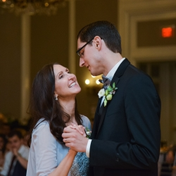 Groom shares a dance with his mother during his wedding reception with music provided by Split Second Sound