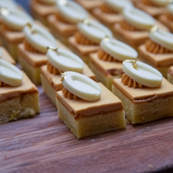 Custom desserts were the perfect treat for a spring wedding at The Ballantyne Hotel