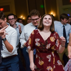 Guest enjoyed the music by Split Second Sound as the danced during a spring wedding coordinated by Magnificent Moments Weddings