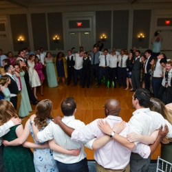Split Second Sound kept the dance floor packed during a spring wedding at The Ballantyne Hotel