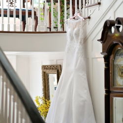 Old South Studios captures a stunning shot of a bridal gown for a spring wedding coordinated by Magnificent Moments Weddings