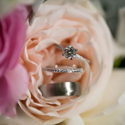 Stunning bridal jewelry captured by Old South Studios for a wedding at the Levine Museum of the New South
