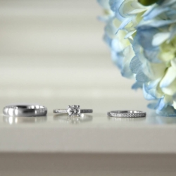 Detail shots of wedding rings