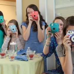 Polaroid pictures at a wedding!