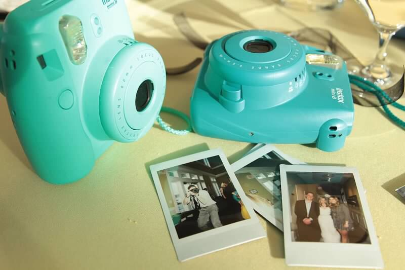 Wedding polaroid pictures