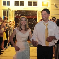 Bubble wedding exit