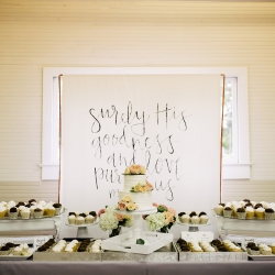 Stunning dessert bar featured sweet treats made by Melanie Rowe Catering and captured by Cameron Faye Photography
