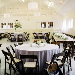 Dark mahogany chairs from creative solutions provided a touch of elegance for a summer wedding in Fort Mill, South Carolina