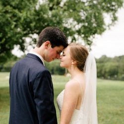 Cameron Faye Photography captures a bride and groom as they prepare for their summer wedding