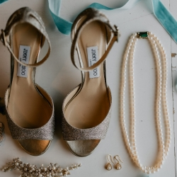 Bridal shoes and jewelry are the prefect subject for Candle and Quill Photography during a fall wedding at Ritchie Hill